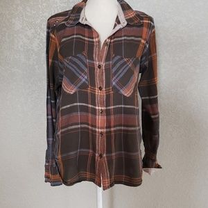 Free People Flannel button down shirt